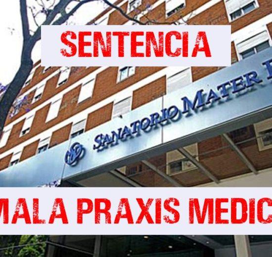 Médicos del Santario Mater Dei sentenciados por Mala Praxis